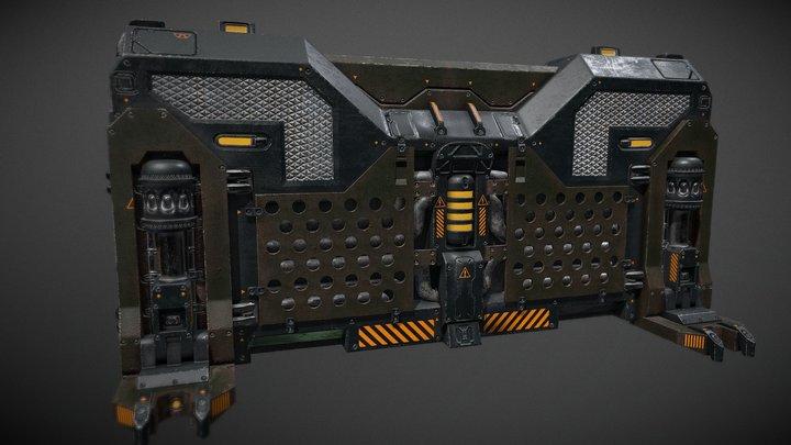 SciFi Barrier Concept 3D Model