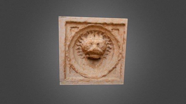 Formella leone duomo di Parma 3D Model