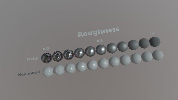 PBRchart_Roughness 3D Model
