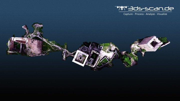 Les Trois Châteaux d'Eguisheim / Drei Exen (F) 3D Model
