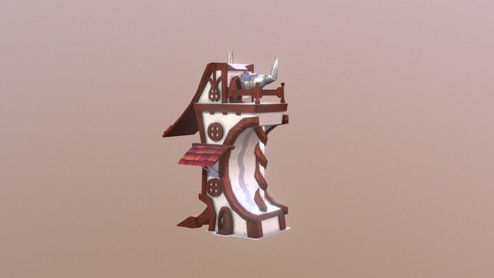 Half Circle House 3D Model