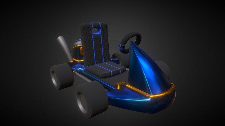 Super Stylized Kart 3D Model