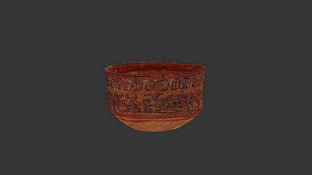 Ceramic bowl, Caracol, Belize 3D Model