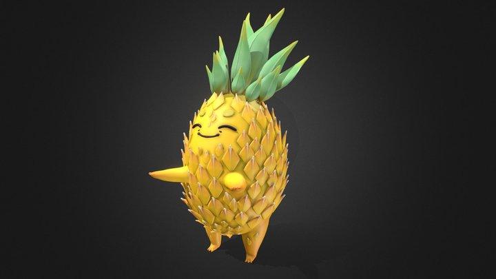 Stylized Pineapple 3D Model
