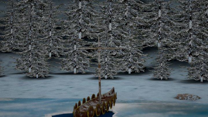 Viking Shipwreck 2.0 3D Model