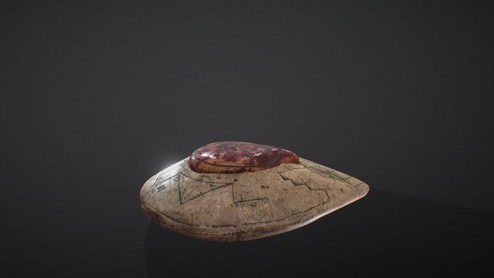 Vimana with alien pilot and fingerprint | Mexico 3D Model