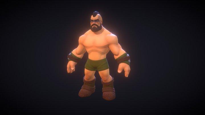 Man Lowpoly 3D Model