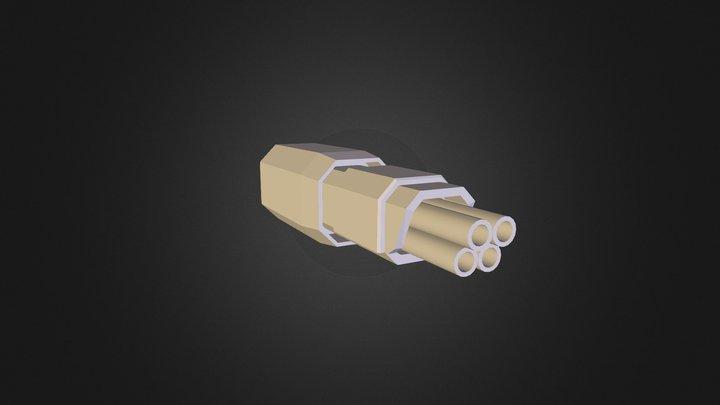 Flak Gun Single 3D Model