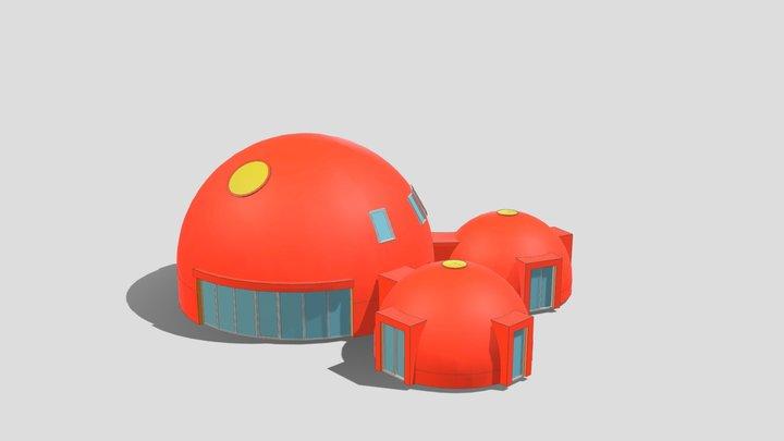 "3D dome 12m + 6m + 6m UAB ""SFEROS"" 3D Model"