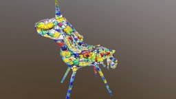Pen&Paper Unicorn with balloon style transfer 3D Model