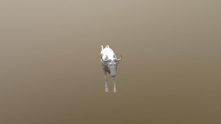 Cow Run 3D Model