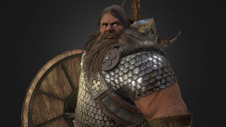 Viking - Next-gen Game Character 3D Model