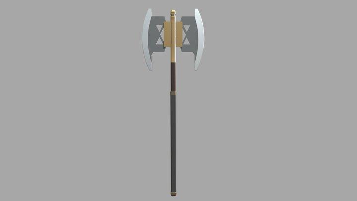 Gimli's Double- Bladed Axe 3D Model