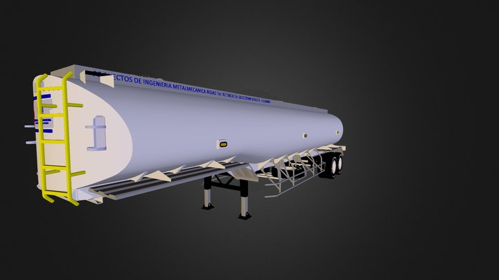 TANQUE ELIPTICO 3D Model
