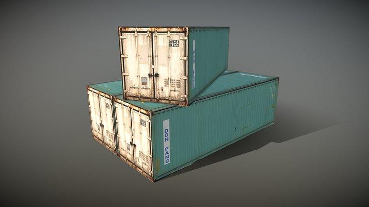 Conatiner Metal Models 3D Model
