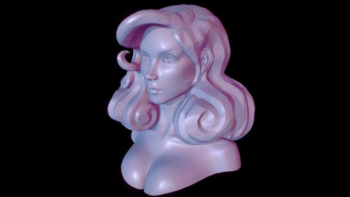 fatale bust sculpt 3D Model