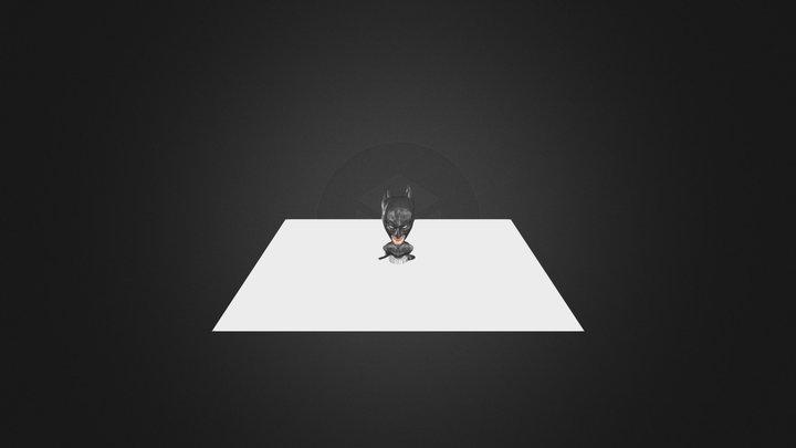 Low Poly Batman 3D Model