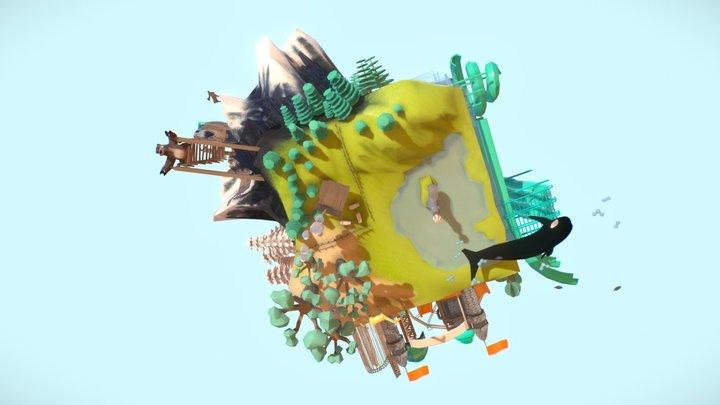A Dice World 3D Model