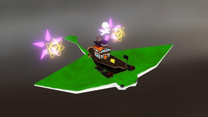 Barco pirata 3D Model