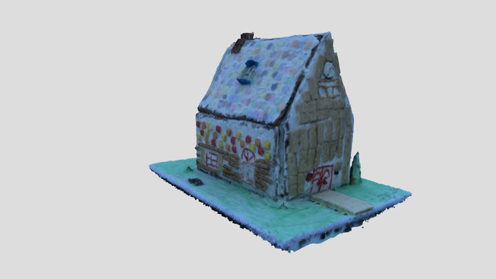 2020 Gingerbread House 3D Model
