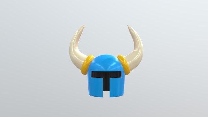 Shovel Knight's helmet 3D Model