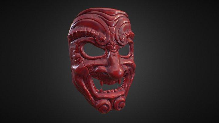 Samurai mask (somen) 3D Model