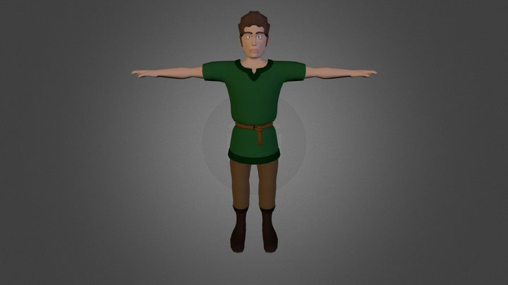 Villager Male 3D Model