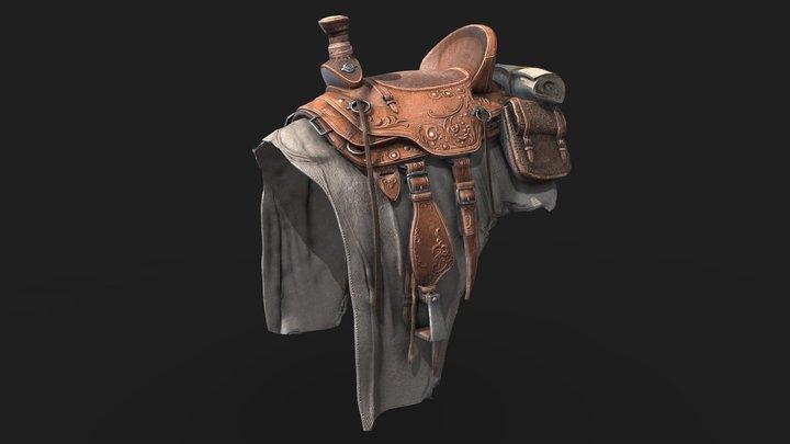 Saddle (PBR Textured) 3D Model