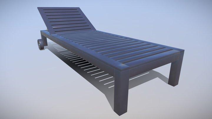 Ikea Applaro Sun Bed 3D Model 3D Model