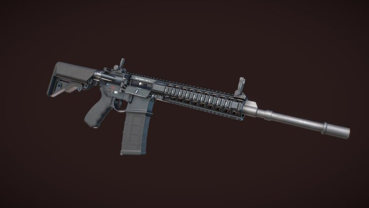 LMT - New Zealand Reference Rifle 3D Model