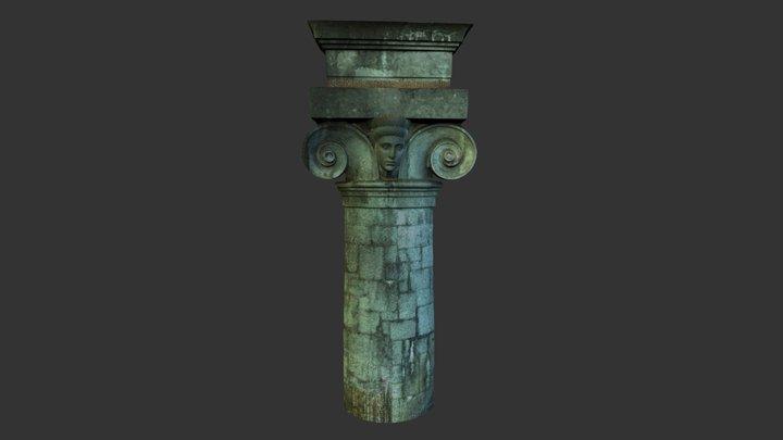 Plečniks barrier, pillar 3D Model