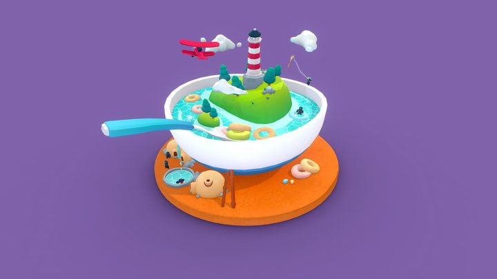 Cereal Island 3D Model