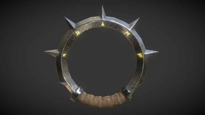 Ring Blade - Fantasy Game Weapon 3D Model