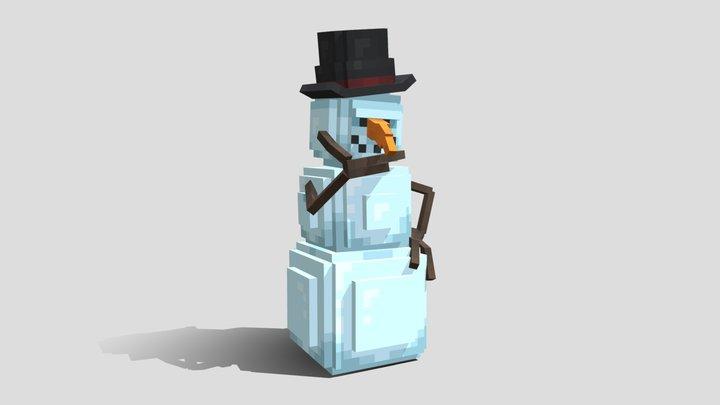Snowman Rig - Free ArtsByKev Tutorial Asset 3D Model