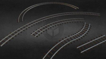 Train Track - Modular Pack 3D Model
