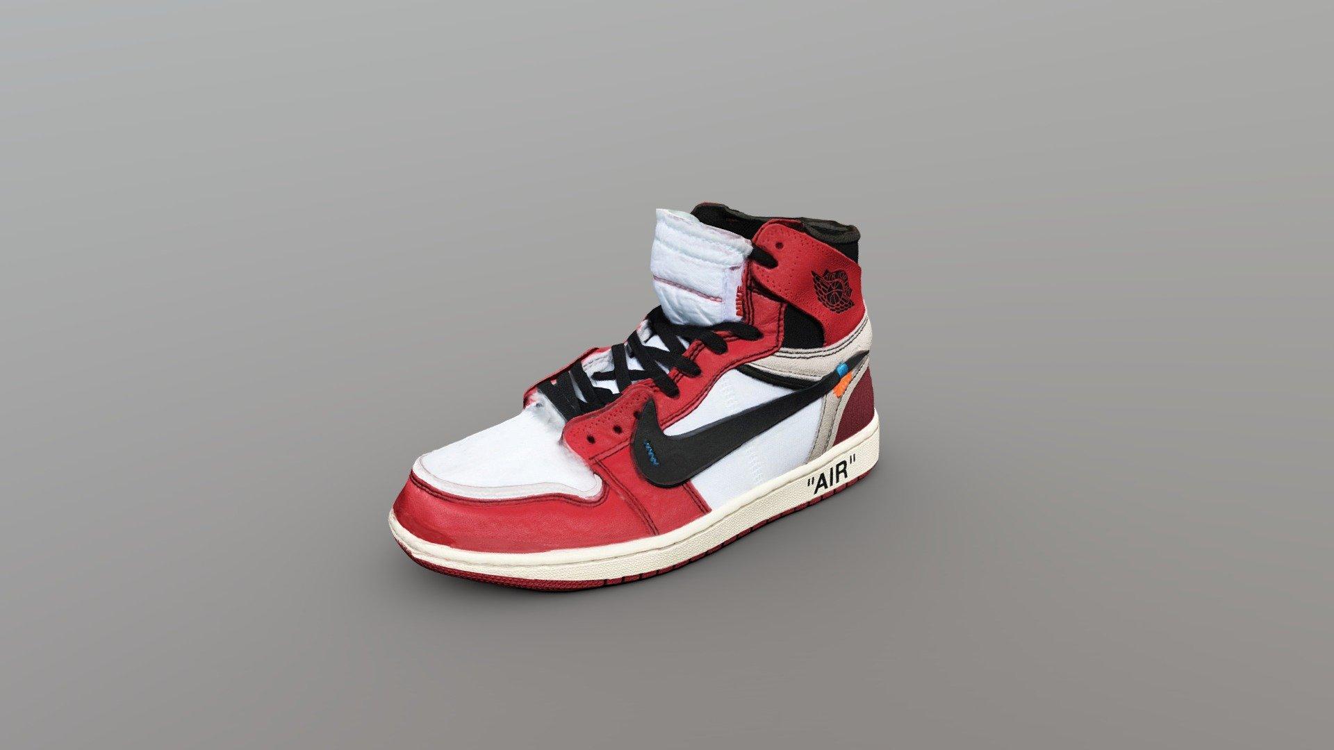Off-White x Nike Air Jordan 1 Shoe - Buy Royalty Free 3D model by ...