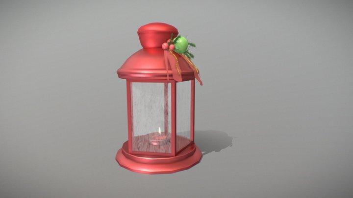 Christmas lantern (XYZ School speed draft Final) 3D Model
