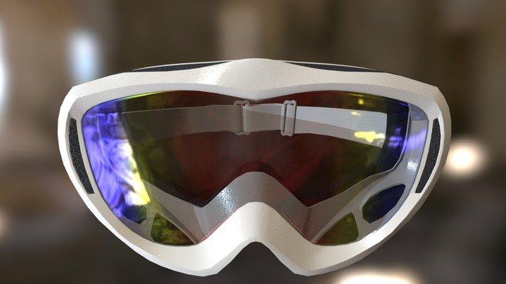 Snowboard goggles 3D Model