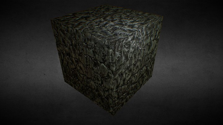 Green Stone Box 3D Model