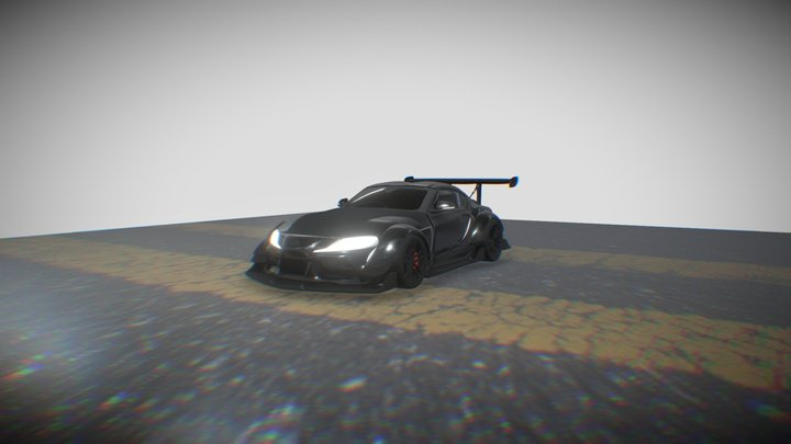 Toyota GR Supra Widebody 3D Model