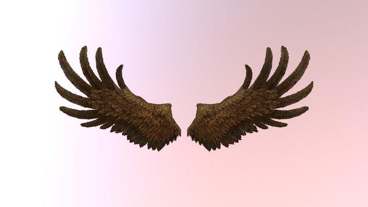Eagle / bird of prey wings Minecraft JSON Model 3D Model