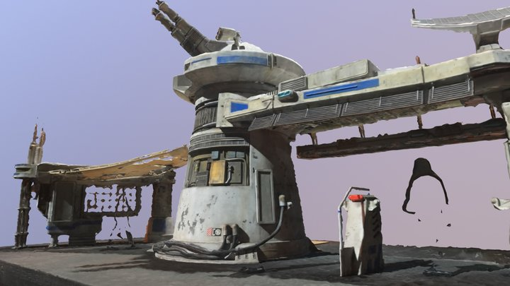 Rough-Star Wars Land Gate Scan 3D Model