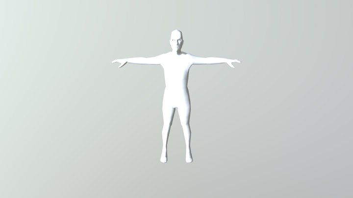 Simple Human Basemesh 3D Model