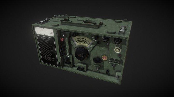 P-305 Soviet radio 3D Model