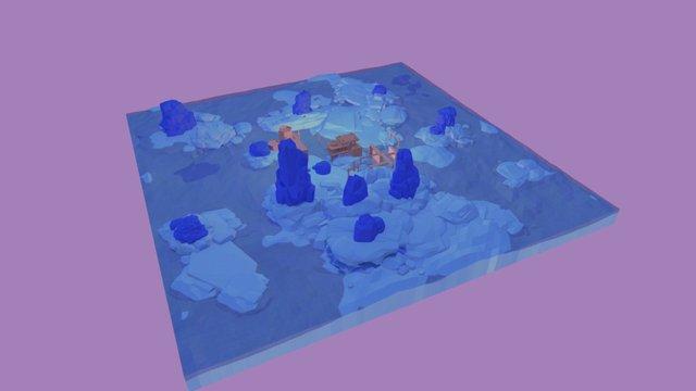 Geometric Island 3D Model