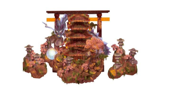 Oriental Blue Dragon lair 3D Model