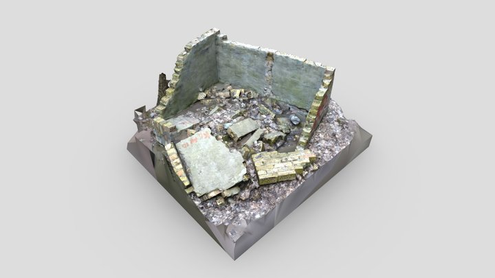 Destructed Building 3D Model