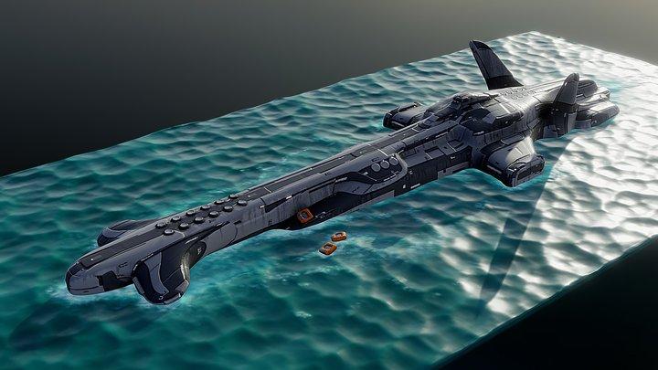 SUBMARINE concept design 3D Model