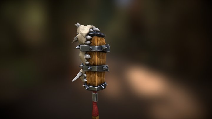 Warrior club stylized 3D Model