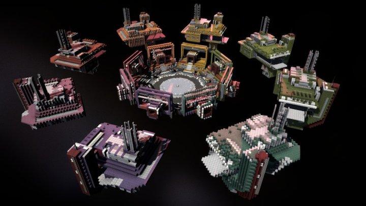 Industrial Skywars I 3D Model